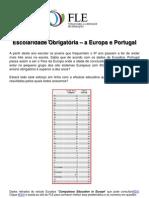 Escolaridade Obrigatória - A Europa e Portugal