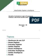 Exemplificação de Entradas e Saídas de um CLP