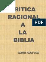 Crítica racional, a la Biblia