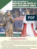 Programa de actos La Montañeta | Octubre 2012
