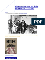 Stauffenberg-Anschlag auf Hitler ein Täuschungsmanöver