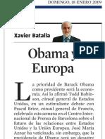 Xavier Batalla. Obama y Europa
