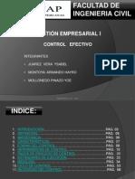 Control Efectivo - Gestion Empresarial i