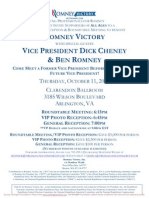 Reception and Roundtable with Dick Cheney and Ben Romney for Romney Victory Inc.