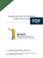 PLANIFICACIÓN ACTIVIDADES ASOCIACIÓN BAOINDALOALMERIA 2012