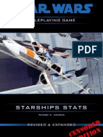 Star Wars D6 Starships Stats