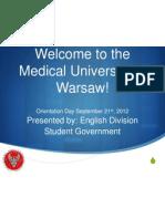 Orientation Presentation 2012