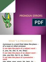 Pronoun Errors