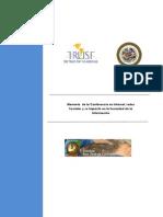 Memoria de La Conferencia en Internet, Redes Sociales y su Impacto en la Sociedad de la Información