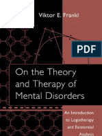 FRANKL, Viktor. On the Theory and Therapy of Mental Disorders