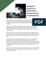 Burbujas de Metano Escapan a La Atmosfera