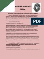 EL PROCESO DE PRIVATIZACIÓN DE LA EDUCACIÓN SIGUE EN MARCHA