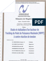 Etude et realisation d'un hacheur de Tracking du Point de Puissance Maximale (MPPT) a contre reaction de tension