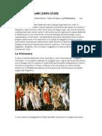 Riassunto Arte [Botticelli, Antonello, Mantegna, Bellini]