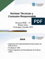 Normas técnicas y consumo responsable