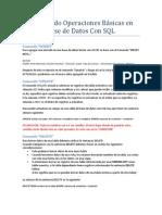 Realizando Operaciones Básicas en Base de Datos Con SQL