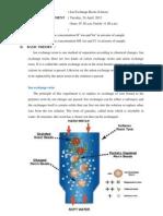 Laporan Ion Exchange Resin