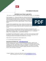 INFORCE Press Release 10 03 12