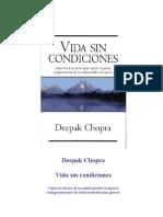 Deepak Chopra Vida Sin Condiciones