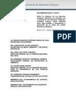 Recomendacion 056 de la CNDH por violaciones a DDHH fundamentales y culturales en #Wirikuta