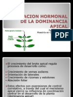 REGULACION HORMONAL DE LA DOMINANCIA APICAL