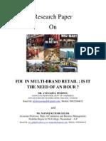 FDI in Multibrand Retailing