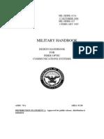 US DoD - Design Handbook for Fiber Optic Communication Systems MIL-HDBK-415A