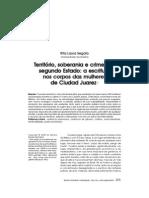 Território, soberania e crimes de segundo Estado - a escritura nos corpos das mulheres de Ciudad Juarez