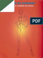 dibujo de figurines para el diseño de moda.