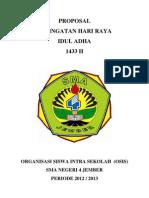 Proposal IDUL ADHA 2012-2013