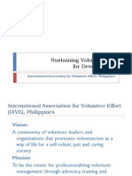Sustaining Volunteerism for Development
