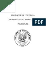 Handbook of Louisiana Court of Appeal Third Circuit Procedure