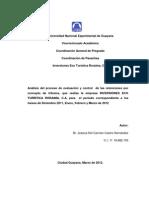 Informe de Pasantia