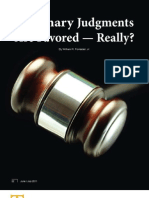 Summary Judgments Are Favored — Really - Louisiana State BarJournal-Feature1-June2011