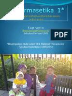 Pertimbangan Biofarmasetika Dalam Desain Sediaan Obat 2012-1
