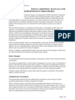 N 1310 Policy Adoption, Manuals and Administrative Procedures