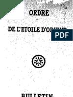 Bulletin de L'Étoile d'Orient N°4 (Octobre 1927)