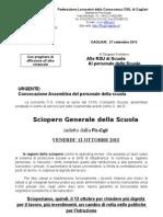 Assemblee Sindacali flc-cgil - Cagliari e provincia Ottobre 2012