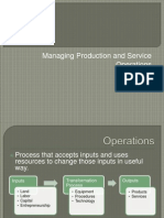Managing Production and ServiceOperations
