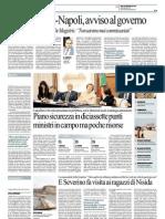 Repubblica 4.10.12 - Decreto salva-Napoli, avviso al governo