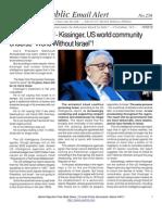 "258 - Major changes!!! - Kissinger, US world community endorse ""World Without Israel""!"
