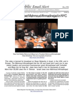 259 - Israeli Leaders Meet Mahmoud Ahmadinejad in NYC