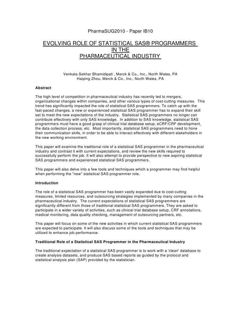 SAS Pharma | Clinical Trial | Sas (Software)