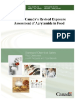 Health Canada - Acrylamide Evaluation in Foods