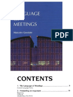 The Language of Meetings 3125240506