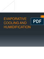 Evaporative Cooling and Humidification