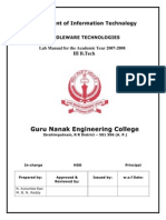 MiddleWare Technology- Lab Manual