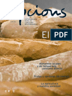 Revista opcions, información para el consumo responsable de pan y alimentos locales y de temporada (2004)
