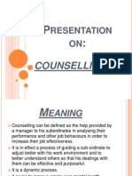 Presentation on COUNSELLING