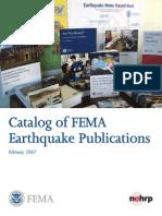 Catalog of FEMA Earthquake Publications